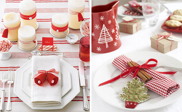 Christmas table setting2 Inspiracija za ukrašavanje prazničnog stola