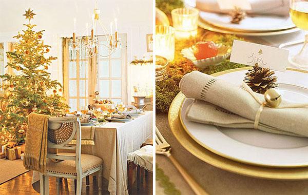 Christmas table setting4 Inspiracija za ukrašavanje prazničnog stola