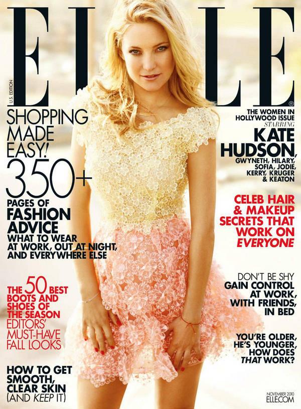 Kate Hudson Elle US November 1 Naslovnice koje su obeležile 2010. godinu