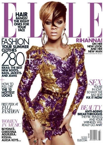Rihanna Elle Magazine US July 2010 Naslovnice koje su obeležile 2010. godinu