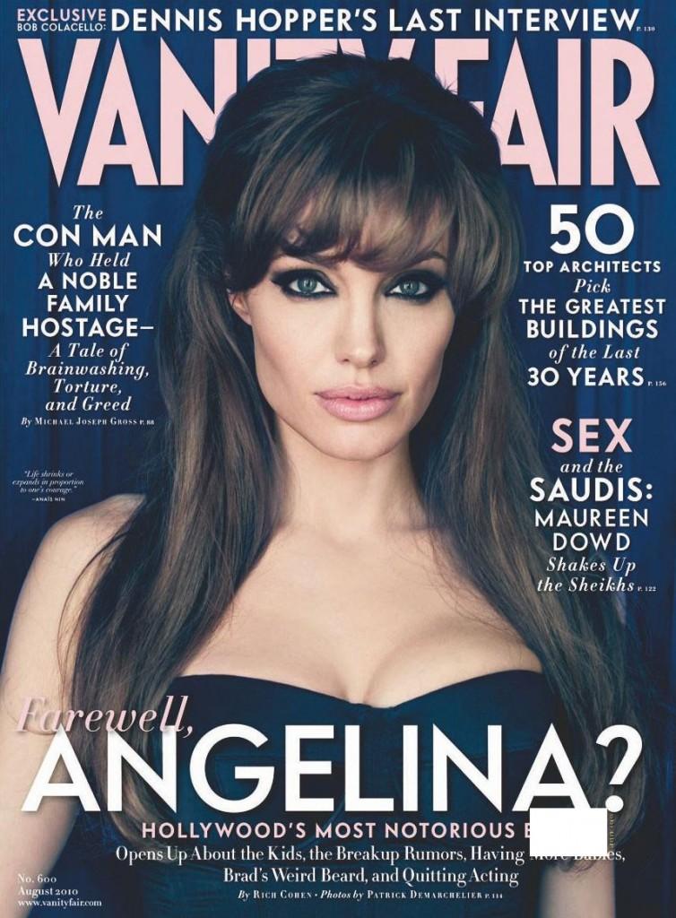 angelina jolie vanity fair august 2010  754x1024 Naslovnice koje su obeležile 2010. godinu