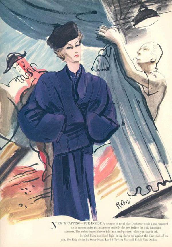 1945 Ben Reig Fashions   181104749 large Modna vintage ilustracija