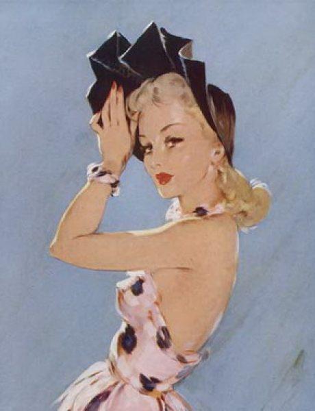 Modna vintage ilustracija