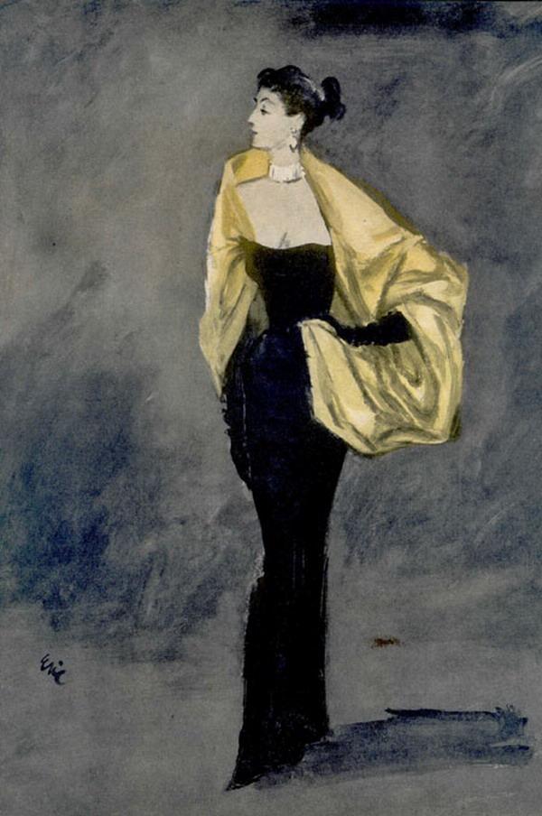 Balenciaga 1957 Vogue eric 181104602 large Modna vintage ilustracija