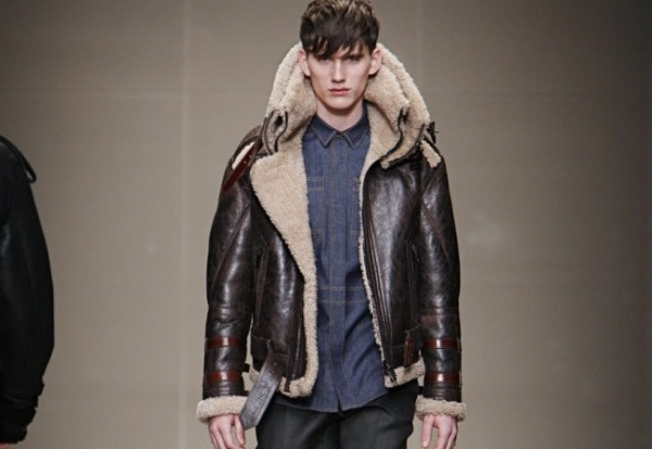 Burberry Prorsum Shearling Funnel Neck Aviator Jacket 021 Aviator style