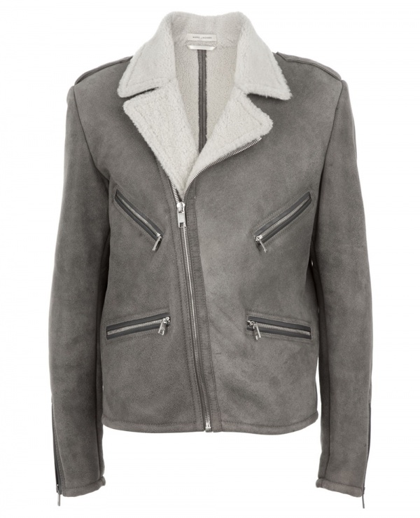 Marc Jacobs Leather Aviator Style Jacket 1 Aviator style