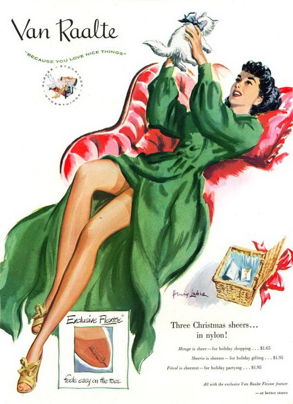 Van Raalte Ad 1940s 181105008 large Modna vintage ilustracija