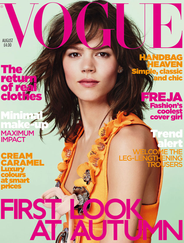 Vogue Avgust 2010 Freja Beha Erihsen Naslovnice britanskog Vogue a u 2010.
