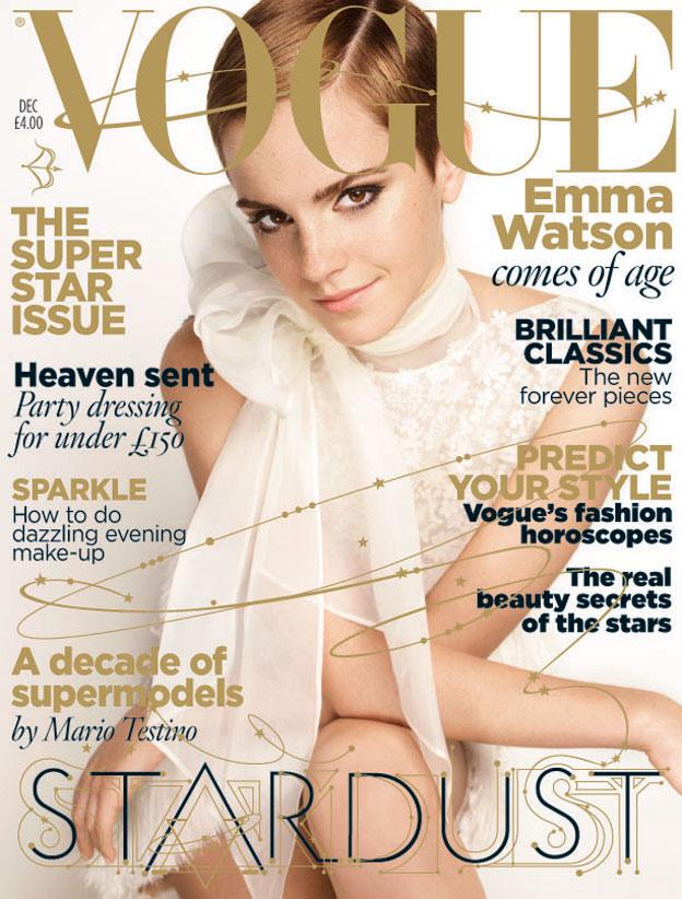 Vogue Decembar 2010 Emma Watson Naslovnice britanskog Vogue a u 2010.