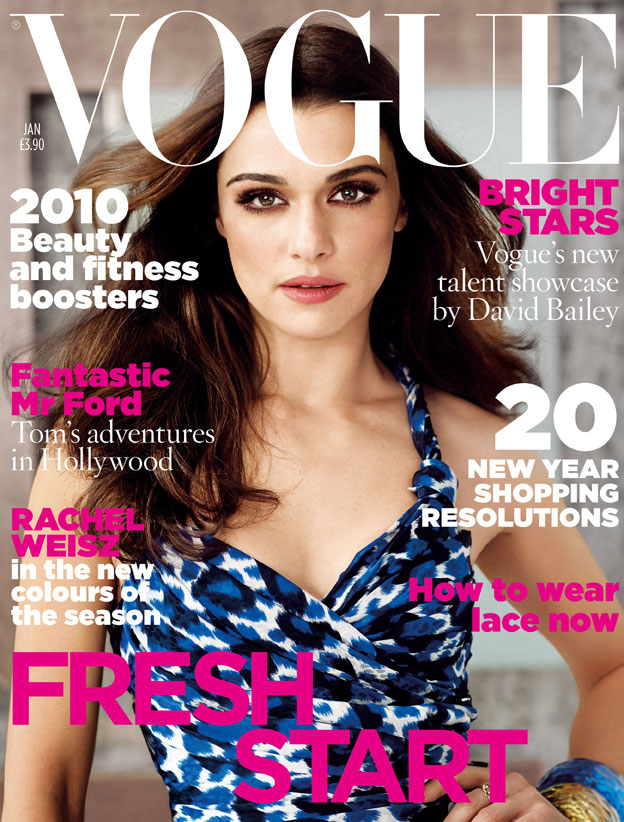 Vogue Januar 2010 Rachel Weisz Naslovnice britanskog Vogue a u 2010.