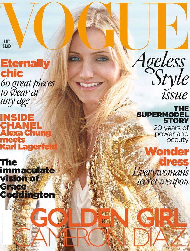 Vogue Jul 2010 Cameron Diaz Naslovnice britanskog Vogue a u 2010.