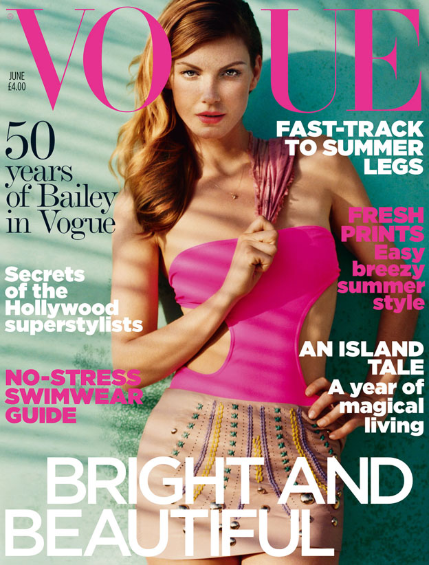Vogue Jun 2010 Angela Lindvall Naslovnice britanskog Vogue a u 2010.