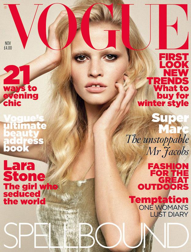 Vogue Novembar 2010 Lara Stone Naslovnice britanskog Vogue a u 2010.