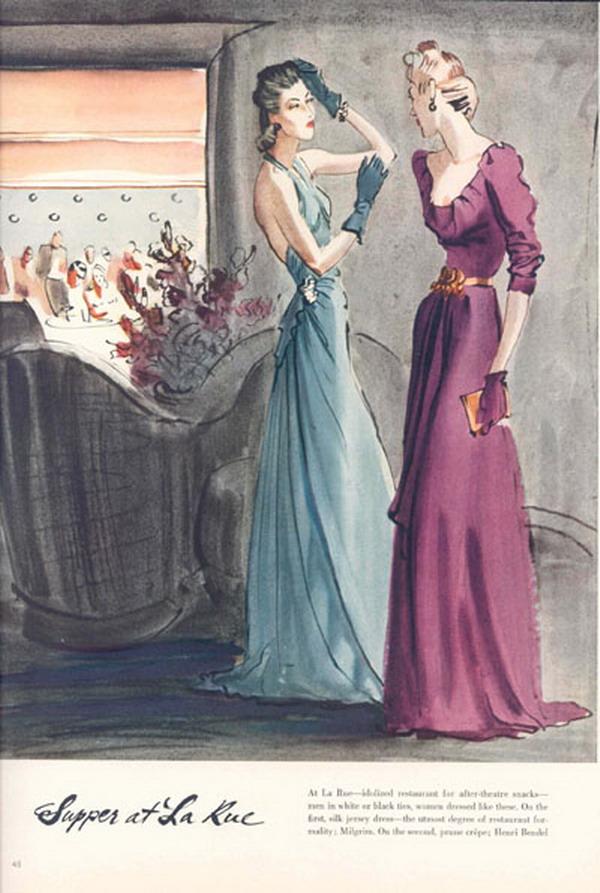 Vogue 1940 181110427 large Modna vintage ilustracija