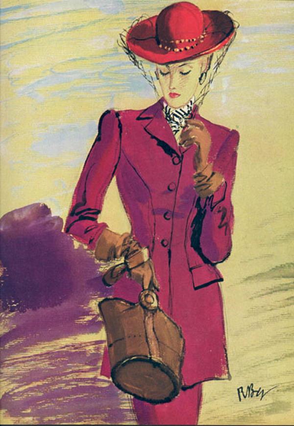 illustrator is R B Williams 1945 Vogue 18194104 large Modna vintage ilustracija