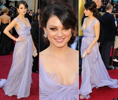 Mila Kunis Dress At The 2011 Oscars Red Carpet 450x382 Oskar 2011
