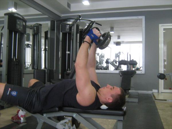 potisak sa cela zavrsni polozaj Dobar trening: Definicija mišića ruku
