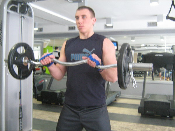 pregib sa nathvatom Dobar trening: Definicija mišića ruku