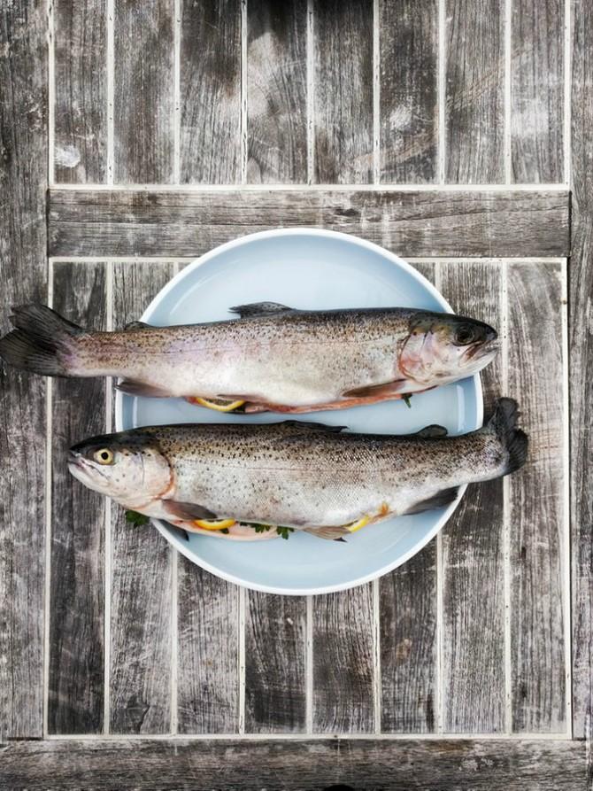 riba pečena na pari Riba pečena na pari