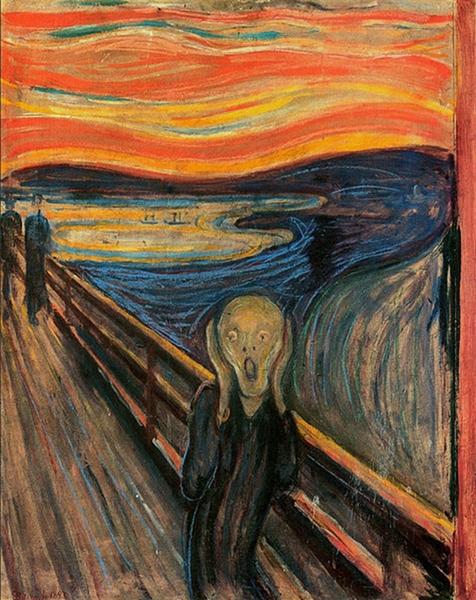 The National Gallery Oslo Norway The Scream3 Edvard Munk: Krik