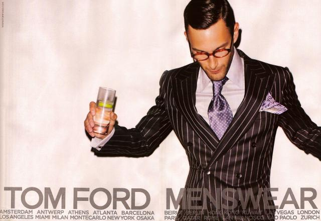 Tom Ford Menswear Spring Summer 2008 Ad Campaign.preview Noah Mills