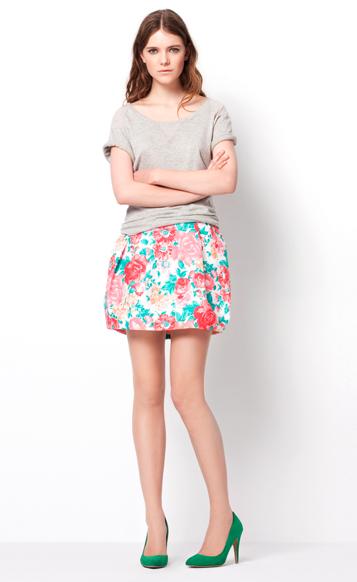 Zara TRF March lookbook floral print skirt HuggyMonster Zara Color Dresses proleće/leto 2011.