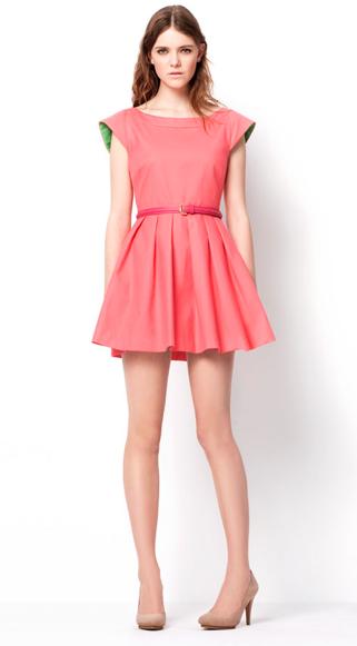 Zara TRF March lookbook pique dress HuggyMonster Zara Color Dresses proleće/leto 2011.