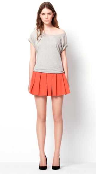 Zara TRF March lookbook pleated skirt HuggyMonster Zara Color Dresses proleće/leto 2011.