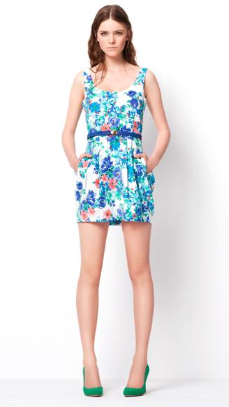 Zara TRF March lookbook printed dress HuggyMonster Zara Color Dresses proleće/leto 2011.