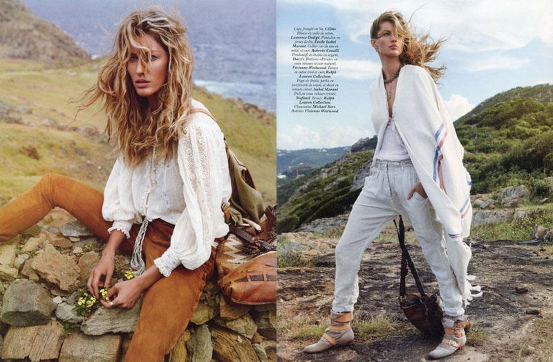 gisele bundchen2 Gisele Bündchen za aprilski Vogue Paris