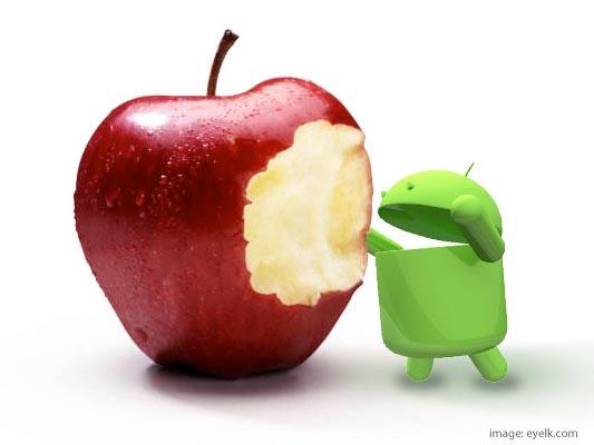 slika 1 Bitka Titana: Android vs. iOS