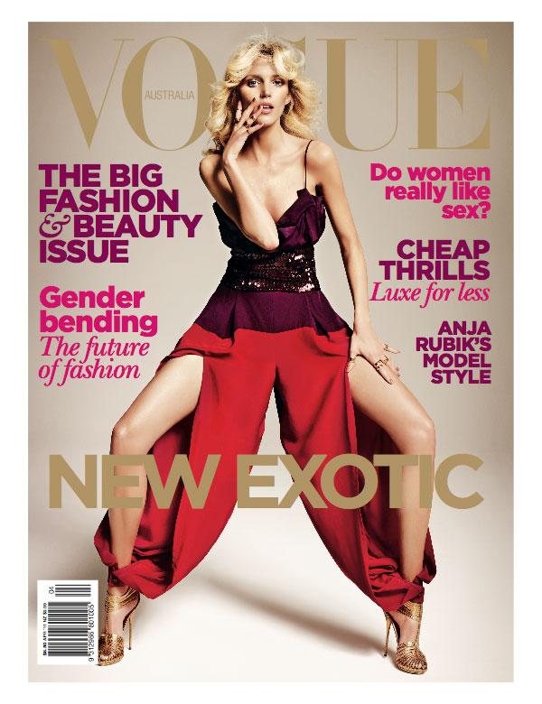 Anja Rubik Vogue Australia Cover Anja Rubik za Vogue Australia
