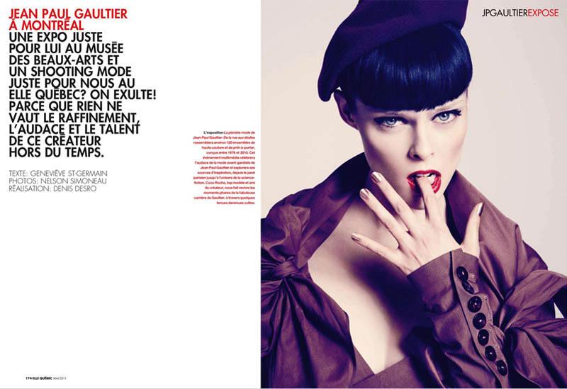 Coco Rocha by Nelson Simoneau 1 Coco Rocha za Elle Canada
