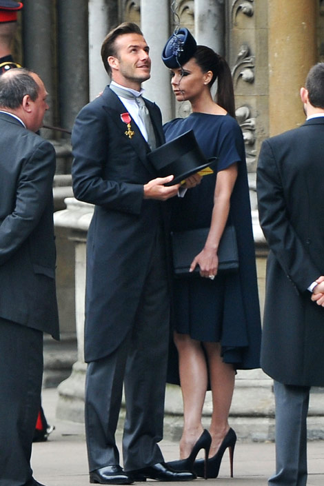 David and Victoria Beckham Royal Wedding Fashion