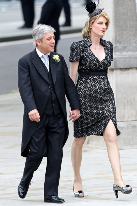 John Bercov and wife Sally Bercow Royal Wedding Fashion