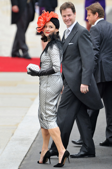 Nick Clegg and Miriam Gonzalez Royal Wedding Fashion