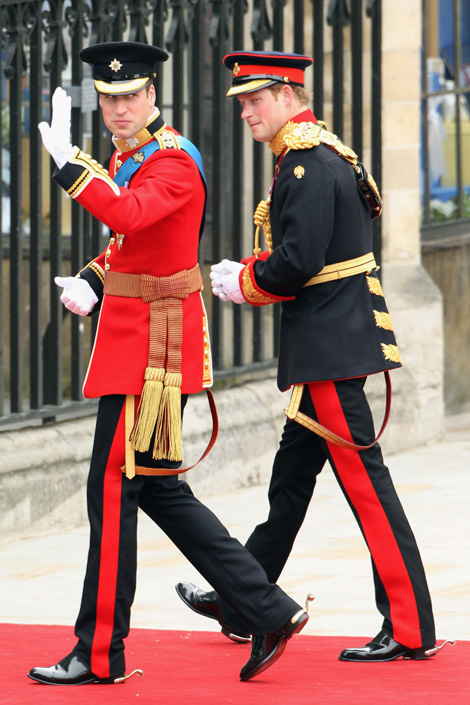 Prince Harry and Prince William Royal Wedding Fashion
