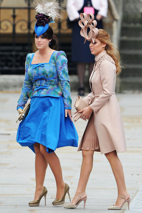 Princess Eugenie of York and Princess Beatrice of York Royal Wedding Fashion