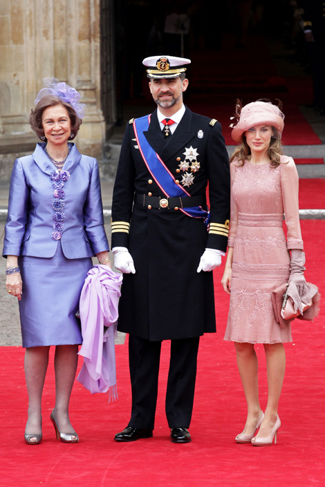 Queen Sofia of Spain and Princess Letizia of Asturias Royal Wedding Fashion