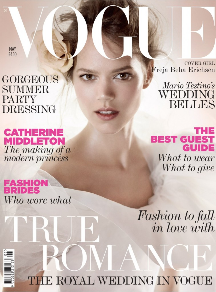 Vogue May Freja Beha 756x1024 Britanski Vogue najavljuje kraljevsko venčanje
