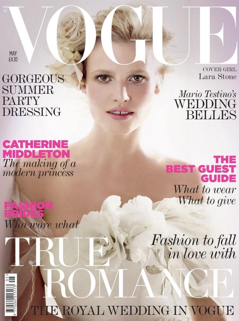 Vogue May Lara Stone 764x1024 Britanski Vogue najavljuje kraljevsko venčanje