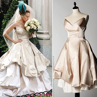 carrie bradshaw wedding gown by vivienne westwood Vivienne Westwood