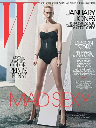 cover02 January Jones za W Magazine