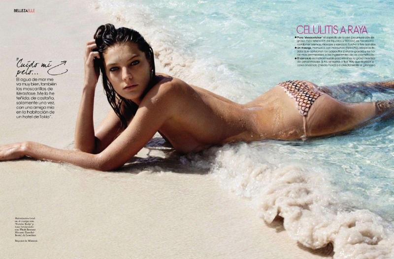 "daria werbowy7 Daria Werbowy za ""Elle Spain"" maj 2011."