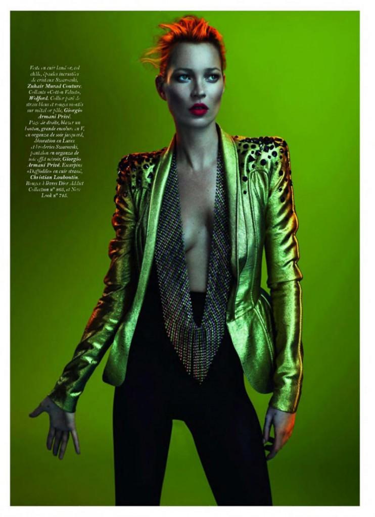 kate moss11 742x1024 Kate Moss za Vogue Paris