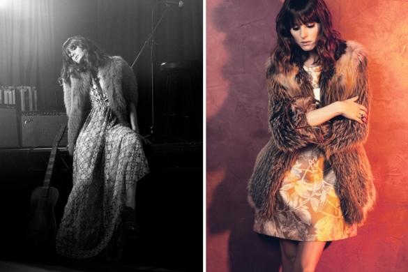left ADAM dress J. Mendel mink jacketL.A.M.B heels 276.50A Peace Treaty ring right Chloé dress Theory fur jacket1 Olivia Palermo za StyleCaster