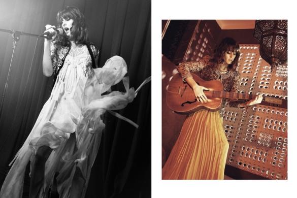 left Jen Kao dress 4115Haute Hippie jacket 695 right Chloé dressIsabel Marant jacketDean Davidson necklace 5551 Olivia Palermo za StyleCaster
