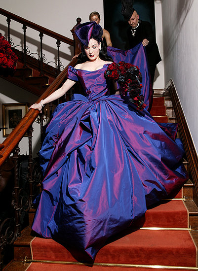 purple wedding dress dita von cheese Vivienne Westwood