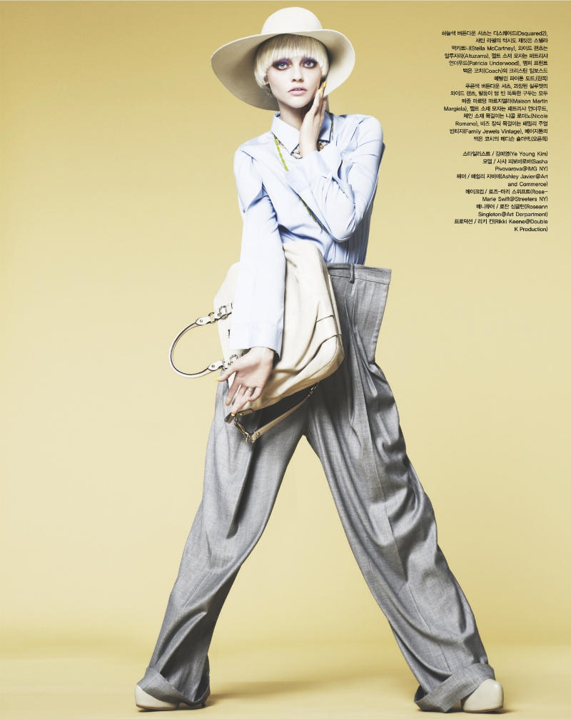 sasha pivovarova2 Sasha Pivovarova za Vogue Korea