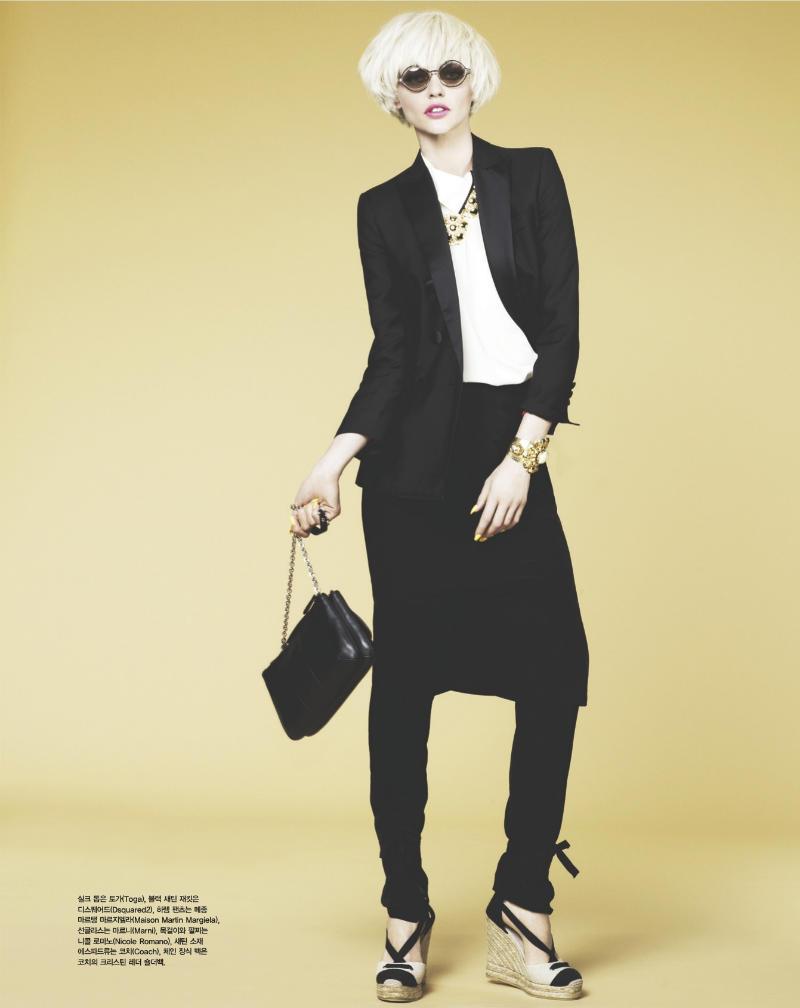 sasha pivovarova6 Sasha Pivovarova za Vogue Korea